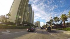 4K Sunny Isles Drive-through 3 Stock Footage