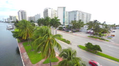 4K Miami Beachfront condos Stock Footage