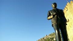 Stock Video Footage of 4K Mustafa Kemal Ataturk Statue in Alanya Turkey 4