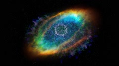 View of spectacular rainbow galaxy in deep cold space Stock Footage