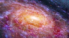 Stunning view of glowing galaxy in deep cold space - stock footage