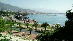 Stock Video Footage of Alanya Turkey Turkish Tourist Paradise 1