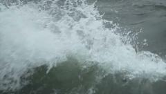 Waves crashing in slow motion Stock Footage