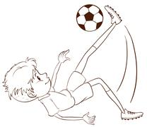 A plain sketch of a soccer player Stock Illustration