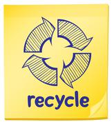 A notepad with a recycle label Stock Illustration