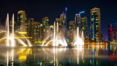 4K TimeLapse - The Dubai Fountain Stock Footage