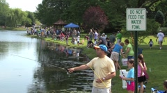 Fishing Derby - stock footage