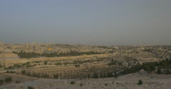 Jerusalem - Sunrise - View of Old City - 24P - Cinematic DCI 4K - Flat Stock Footage