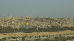 Jerusalem - Sunrise - View of Old City - 25P - UHD 4K - Flat Stock Footage