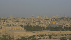Jerusalem - Sunrise - View of Old City - 30P - UHD 4K - Flat Stock Footage