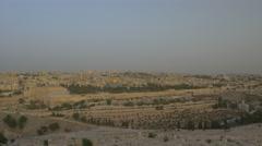 Jerusalem - Sunrise - View of Old City - 30P - UHD 4K - Flat - stock footage
