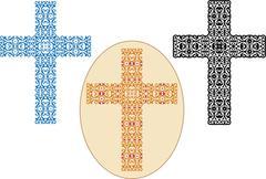 Christian cross design Piirros