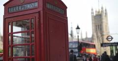 Phone box near Parliament 4K Stock Footage