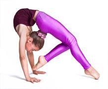 Little gymnast.sporting exercise.stretch.flexibility.aerobics Kuvituskuvat