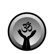 Symbol of faith- Hinduism - stock illustration