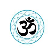 Symbol of Hinduism - stock illustration