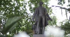 Sir Robert Peel statue in London 4K - stock footage