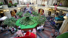 Watermelon fair inside GUM fontain Stock Footage