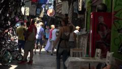 Athens Greece local covered market 4K 059 Stock Footage