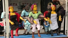 Dancing Puppets Stock Footage