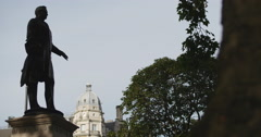 Henry John Temple in Parliament square 4K Stock Footage
