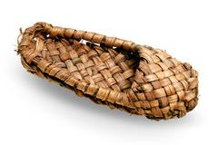 braiding sandal made of bark - stock photo