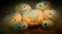 Halloween Pumpkins loopable background - stock footage