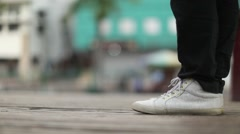 Girl's shoes Waiting for Her Man - stock footage