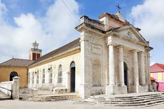 church of saint jean baptiste at le moule, guadeloupe - stock photo