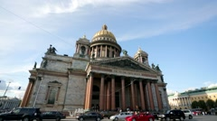 View of Saint Isaac cathedral or Isaakievskiy Sobor - stock footage