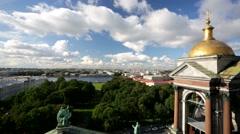 Beautiful aerial view of Saint Petersburg city Stock Footage
