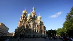 View of the Church of the Savior on Blood. Stock Footage