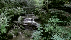 Europe Switzerland city of Solothurn 061 creek in Verena Gorge Hermitage Stock Footage