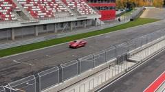 Racing ring, start lane Stock Footage