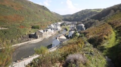 Boscastle North Cornwall between Bude and Tintagel England UK Stock Footage