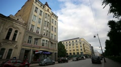 Vyborg streetview. Stock Footage