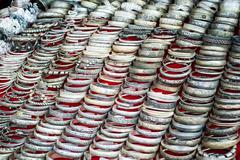 Cheap souvenir bangles at asian market. laos Stock Photos