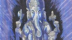 Ganesha the Hindu God Stock Footage