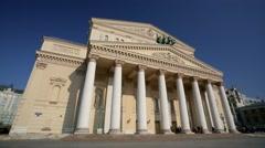 Exterior of the Bolshoi Theater. - stock footage