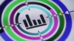 Equalizer icon on the screen. Looping. Stock Footage