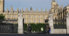 General public pass Parliament in London 4K Stock Footage