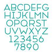 Handmade sans-serif font Stock Illustration