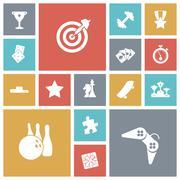 flat design icons for leisure and sport - stock illustration