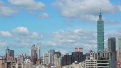 Beautiful cityscape, Taipei 101 skyscraper,Taiwan-Dan Stock Footage