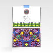 Stock Illustration of decorative sheet of paper with oriental floral design