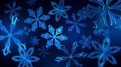 Snowflakes Loop 24fps Stock Footage