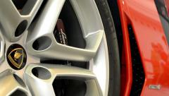 car wheel - disc brake - Lamborghini Aventador - stock footage