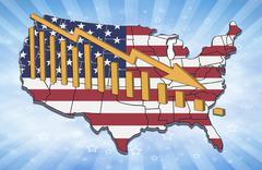 Usa decline Stock Illustration