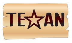 texan - stock illustration