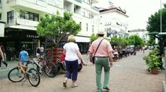 Stock Video Footage of Alanya Turkey Turkish Tourist Paradise 73 downtown